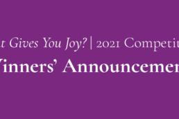 2021 Winners' Announcement